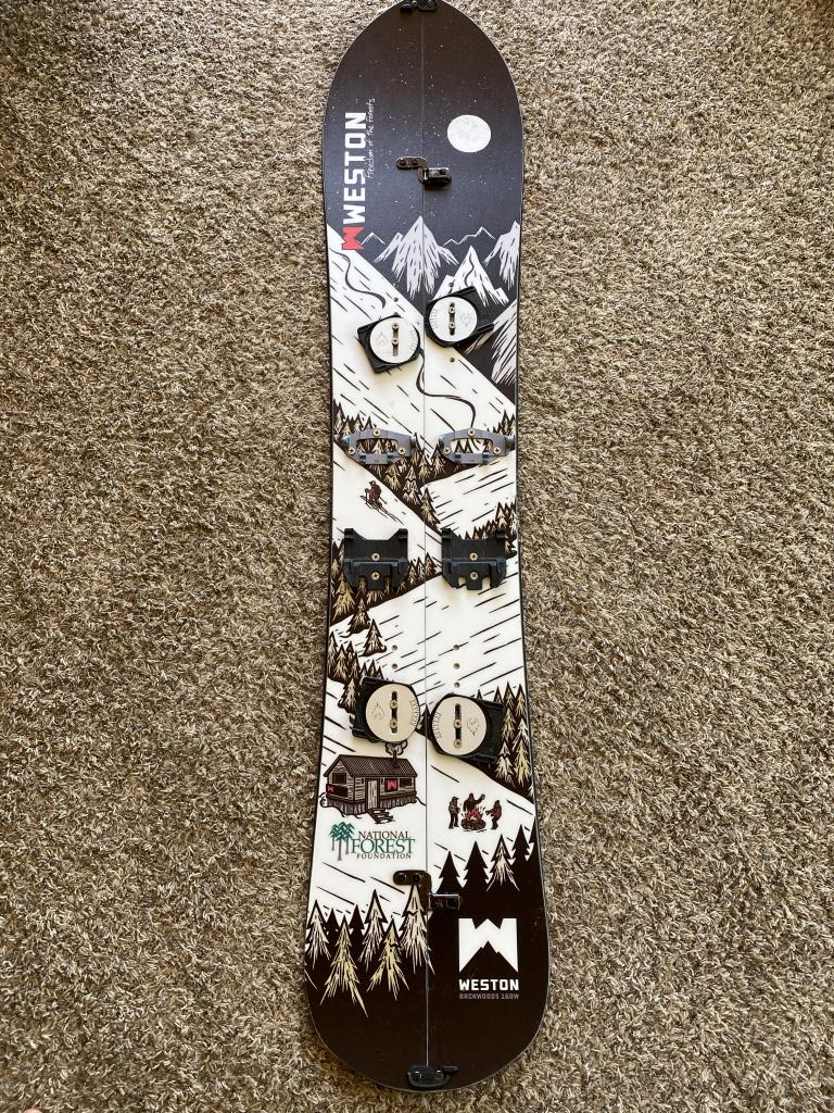 19/20 Weston Backwoods Splitboard 160cm wide