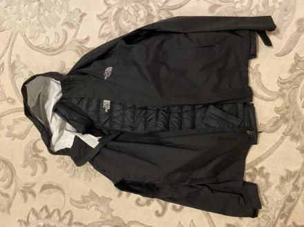 Black medium north face three in one jacket