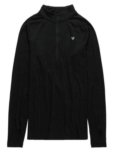 Stoic Merino Blend 1/4 Zip Baselayer - Black