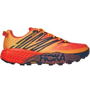 Speedgoat 4 GTX Trail Running Shoe - Men's Mandarin Red/Gold Fusion, 10.0 - Good