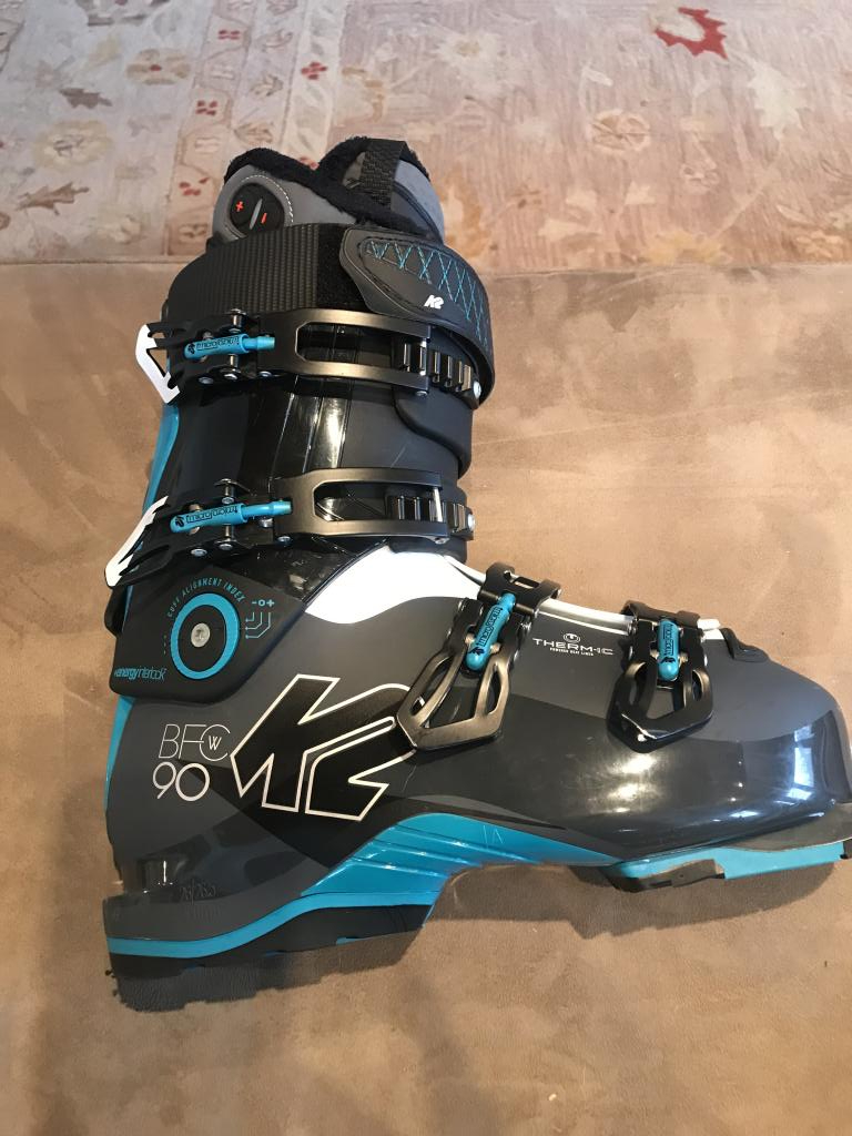 K2 BFC W 90, size 26.5  Women's Thermic Ski Boots 2019, Blue and Black