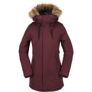 Mission Insulated Hooded Jacket - Women's Black/Red, M - Excellent