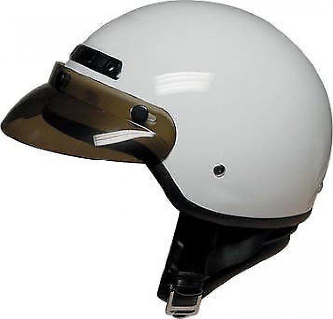 DOT 40 White 1/2 Shell Motorcycle Helmet - BRAND NEW
