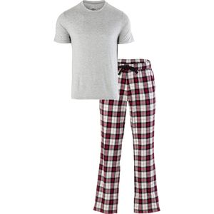 Grant Sleep Set - Men's Seal Heather/Plaid Timeless Red, XL - Excellent