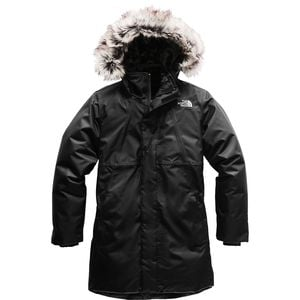 Arctic Swirl Hooded Down Jacket - Girls' Tnf Black/Tnf Black,S - Fair
