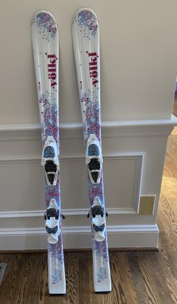Girls 130 cm Volkl Chica Skis with Marker Bindings