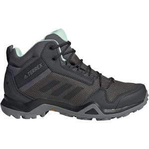 Terrex AX3 Mid GTX Hiking Boot - Women's Grey Five/Black/Clear Mint, 9.0 - Excellent