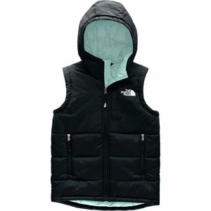 Balanced Rock Insulated Hooded Vest - Girls' Tnf Black/Windmill Blue,S - Excellent
