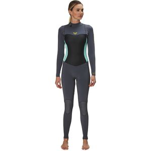 3/2 Syncro Back-Zip GBS Wetsuit - Women's Deep Grey/Glicer Blue, 4 - Excellent