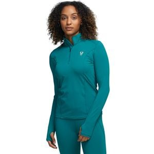 Midweight 1/4 Zip Baselayer Top - Women's Deep Sea, S - Excellent