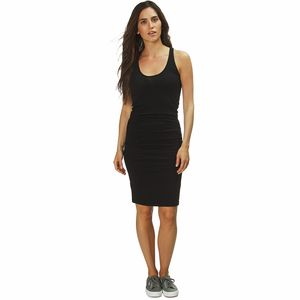 Tank Shirred Dress - Women's Black, XS - Excellent