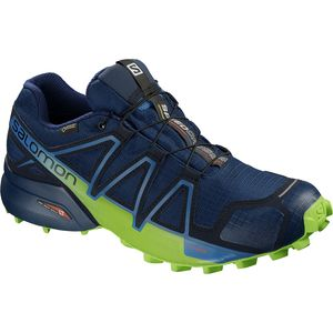 Speedcross 4 GTX Trail Running Shoe - Men's Poseidon/Navy Blazer/Lime Green, US 9.5/UK 9.0 - Good