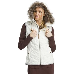 Calla Hooded Vest - Women's Bone, S - Excellent