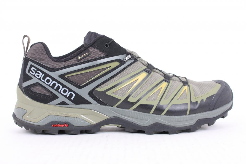 X Ultra 3 GTX Hiking Shoe - Men's Castor Gray/Beluga/Green Sulphur, US 12.5/UK 12.0 - Fair