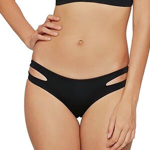 Sensual Solids Estella Bikini Bottom - Women's Black- Full Cut, L - Excellent