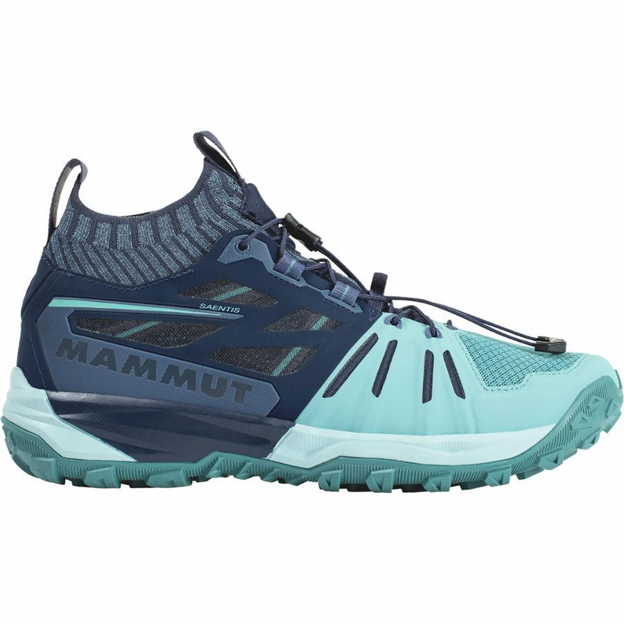 Mammut Saentis Women's Knit Low Running Shoes-Size 9, Waters