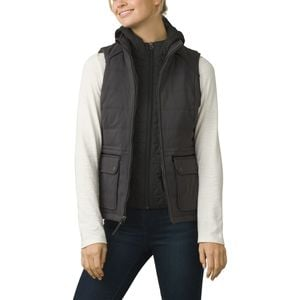 Halle Insulated Hooded Vest - Women's Charcoal, M - Excellent