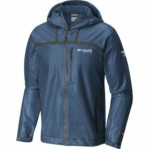 Titanium Outdry Ex Stretch Hooded Shell Jacket - Men's Collegiate Navy Ripstop Print, M - Good