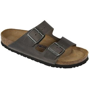 Arizona Soft Footbed Leather Sandal - Women's Iron Oiled Leather, 36.0 - Excellent
