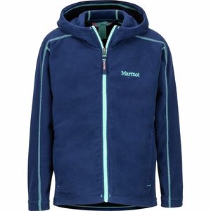 Rocklin Hooded Fleece Jacket - Girls' Arctic Navy,L - Good