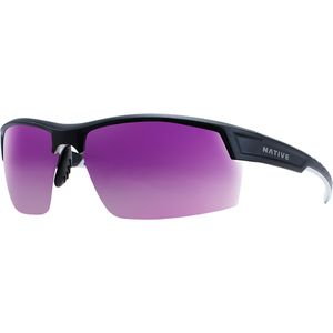 Catamount Polarized Sunglasses Matte Black/Crystal-Violet Reflex, One Size - Excellent
