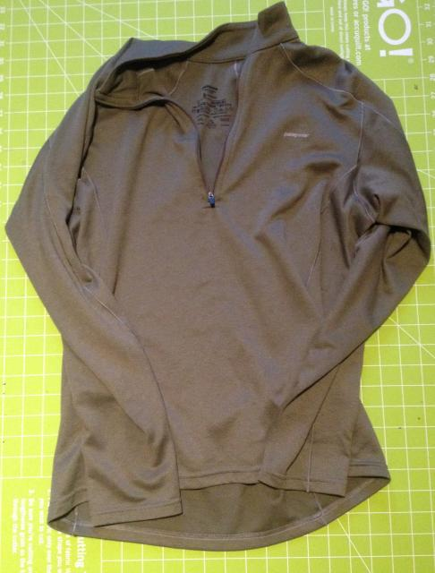 Patagonia Capilene 3 Zip Neck Long Sleeve Shirt, Men's Small