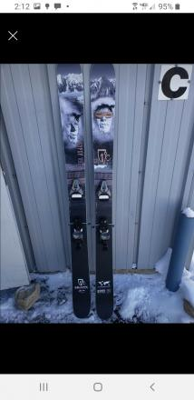 ICELANTIC NEW Gypsy Skis with NEW bindings!
