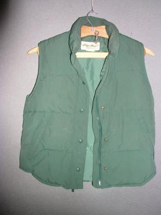 Eddie Bauer Light Goose Down Vest Womans X SMALL