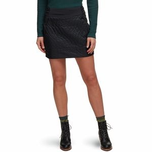 Trekkin Insulated Mini Skirt - Women's Black, L - Good