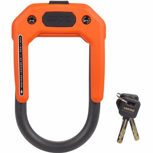 DX Wearable Keyed U-Lock Orange, 3.34inx5.9in - Good
