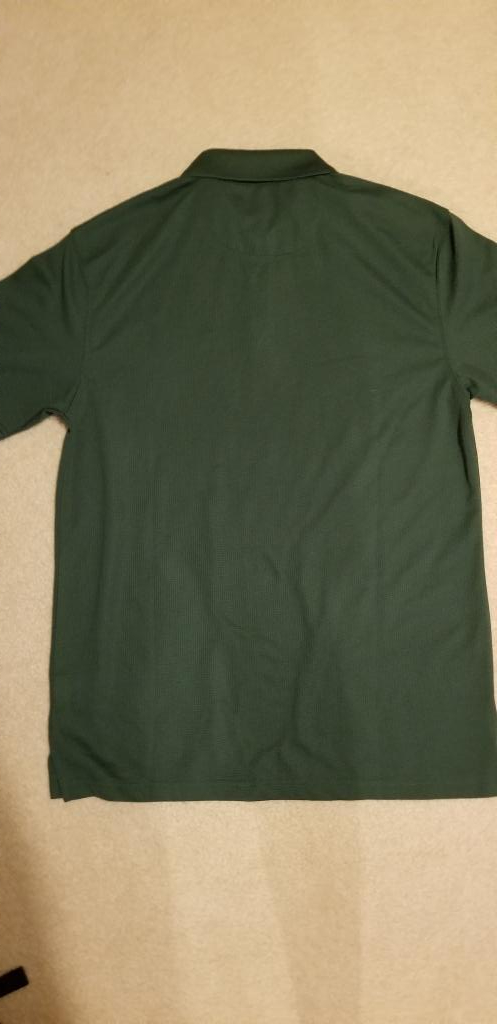 NEW Dark Green Haggar's Men's Small Polyester Polo Shirt