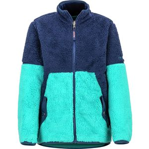 Lariat Fleece Jacket - Girls' Blue Tile/Arctic Navy,L - Fair