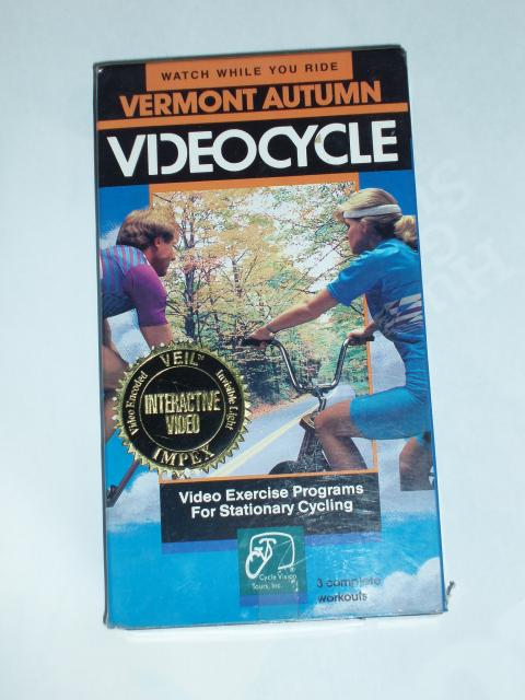 VIDEOCYCLE VHS Vermont Autumn Exercise Programs For Stationary Cycling