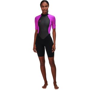 Reactor II 3/2 Back-Zip Spring Wetsuit - Women's Black/Berry, 10 - Excellent