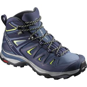 X Ultra 3 Mid GTX Hiking Boot - Women's Crown Blue/Evening Blue/Sunny Lime, US 8.0/UK 6.5 - Excellent