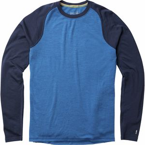 Merino 250 Baselayer Crew - Men's Bright Cobalt Heather/Deep Navy, M - Excellent