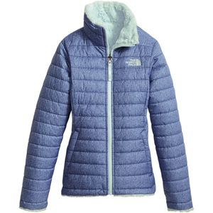 Mossbud Swirl Reversible Jacket - Girls' Bright Navy White Heather, L - Excellent