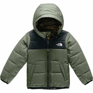 Perrito Reversible Hooded Jacket - Toddler Boys' New Taupe Green/Tnf Black,4T - Good