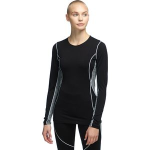 BodyFit 200 Oasis Deluxe LS Crewe Top - Women's Black/Gritstone Heather, XS - Good
