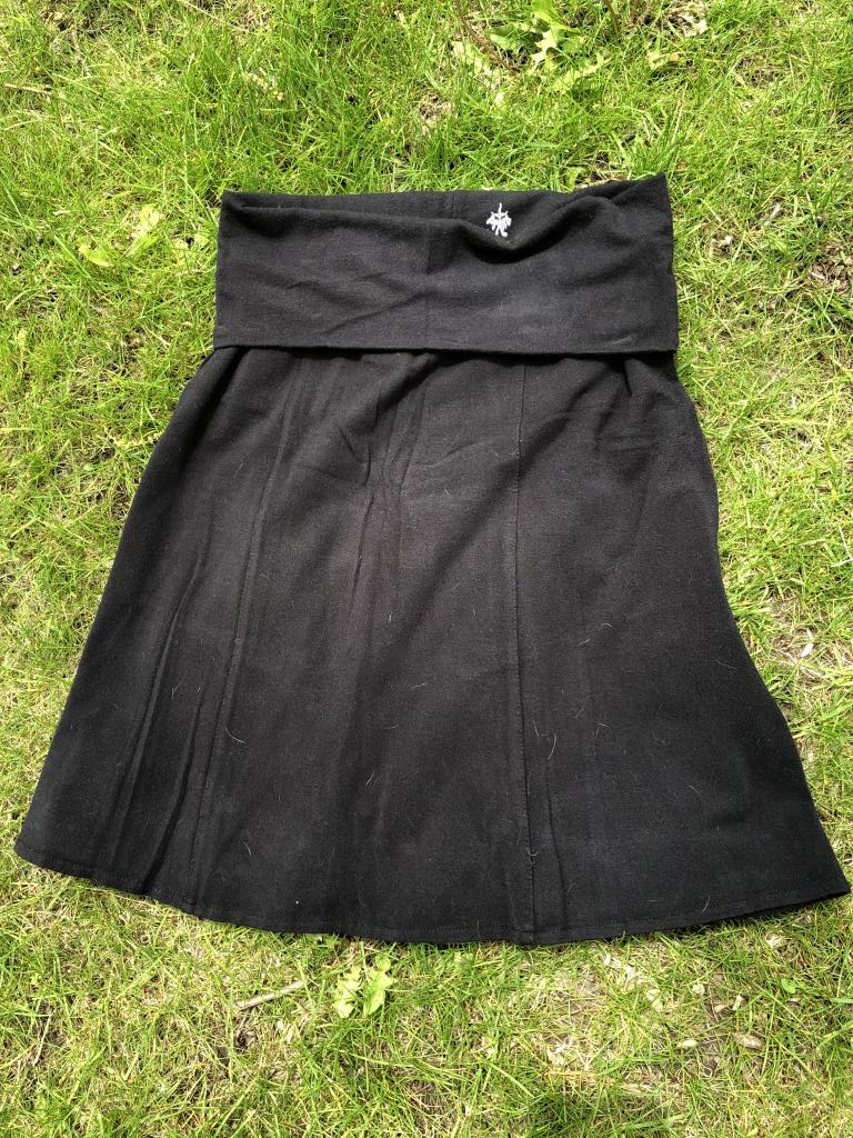 prAna Women's Black Skirt with Fold Over Waistband, Size Small
