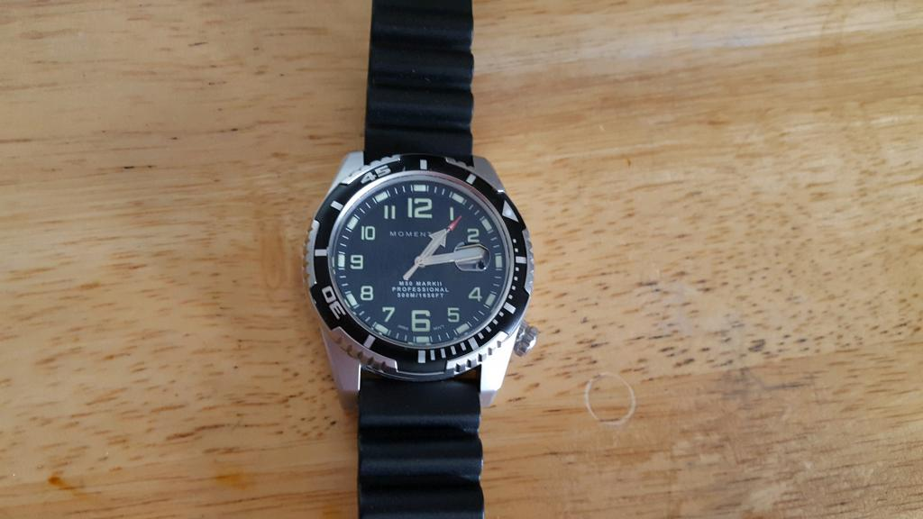 Near New St. Moritz Momentum Mark II 500 meter Dive Watch.......98%