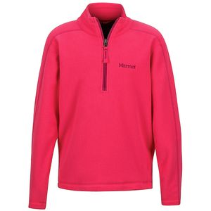 Rocklin 1/2-Zip Fleece Jacket - Girls' Hibiscus, L - Good