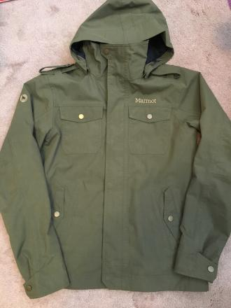 Marmot military styled rain jacket- size small