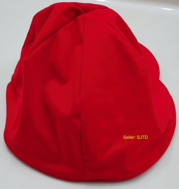 Patagonia Wind Shield Running Ear-Flap Beanie Cap Red Small - EUC