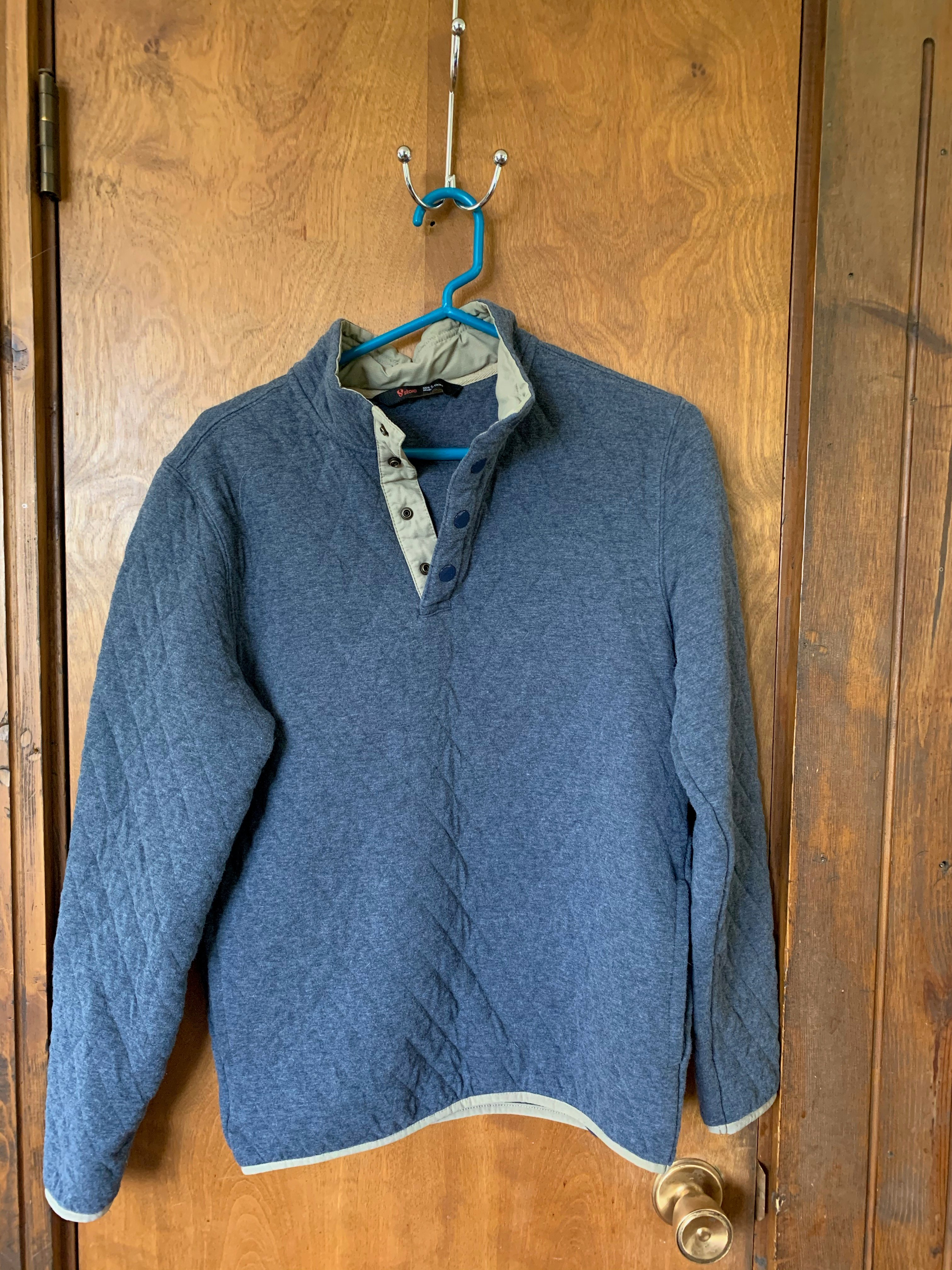 Men's Stoic Quilted Cotton Pullover