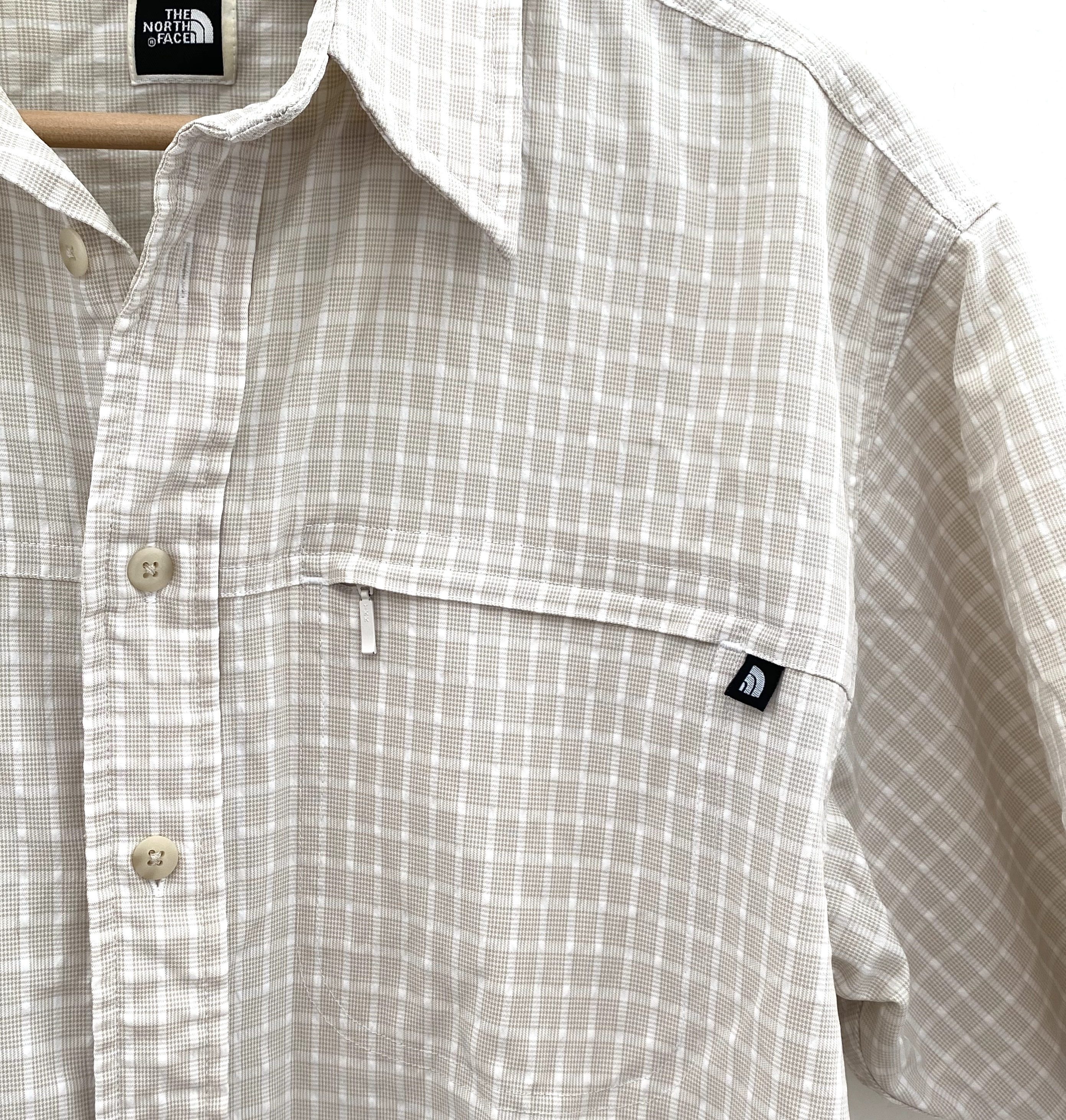 The North Face short sleeve button up hiking shirt