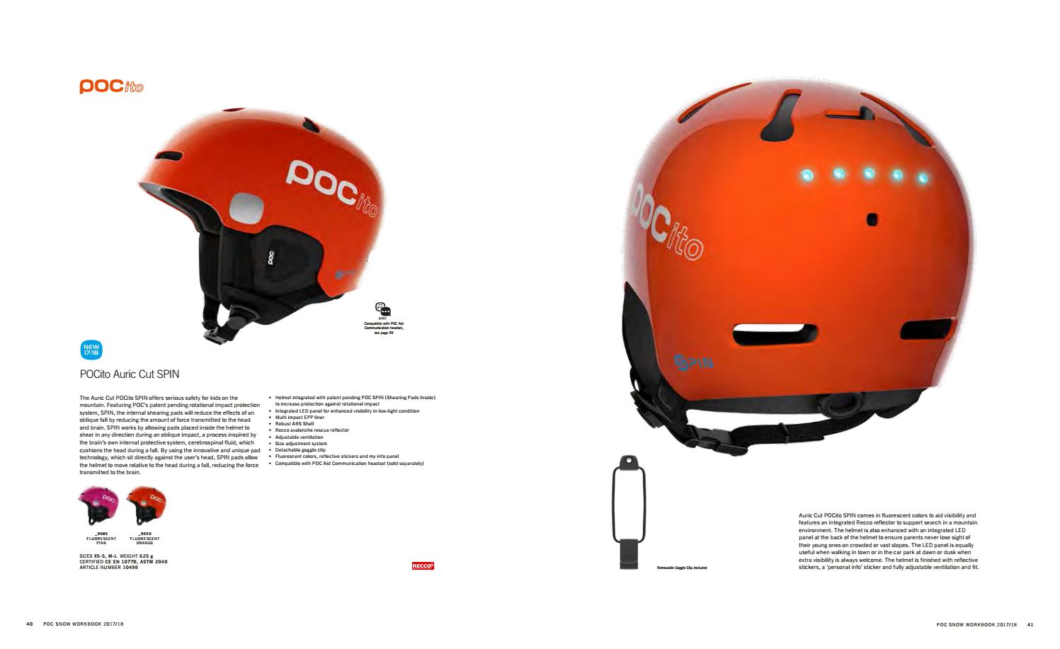 POC POCito Auric Cut SPIN Orange Helmet - Kids'