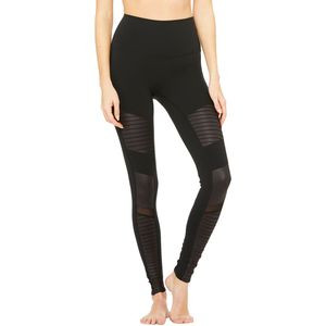 High-Waist Moto Legging - Women's Black/Black Glossy, L - Good