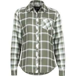 Taylor Flannel Shirt - Long-Sleeve - Women's Beetle Green, M - Excellent