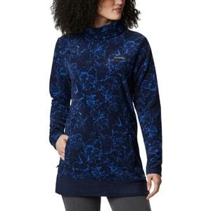 Ali Peak Fleece Tunic - Women's Dark Nocturnal/Brush Floral Print, S - Excellent